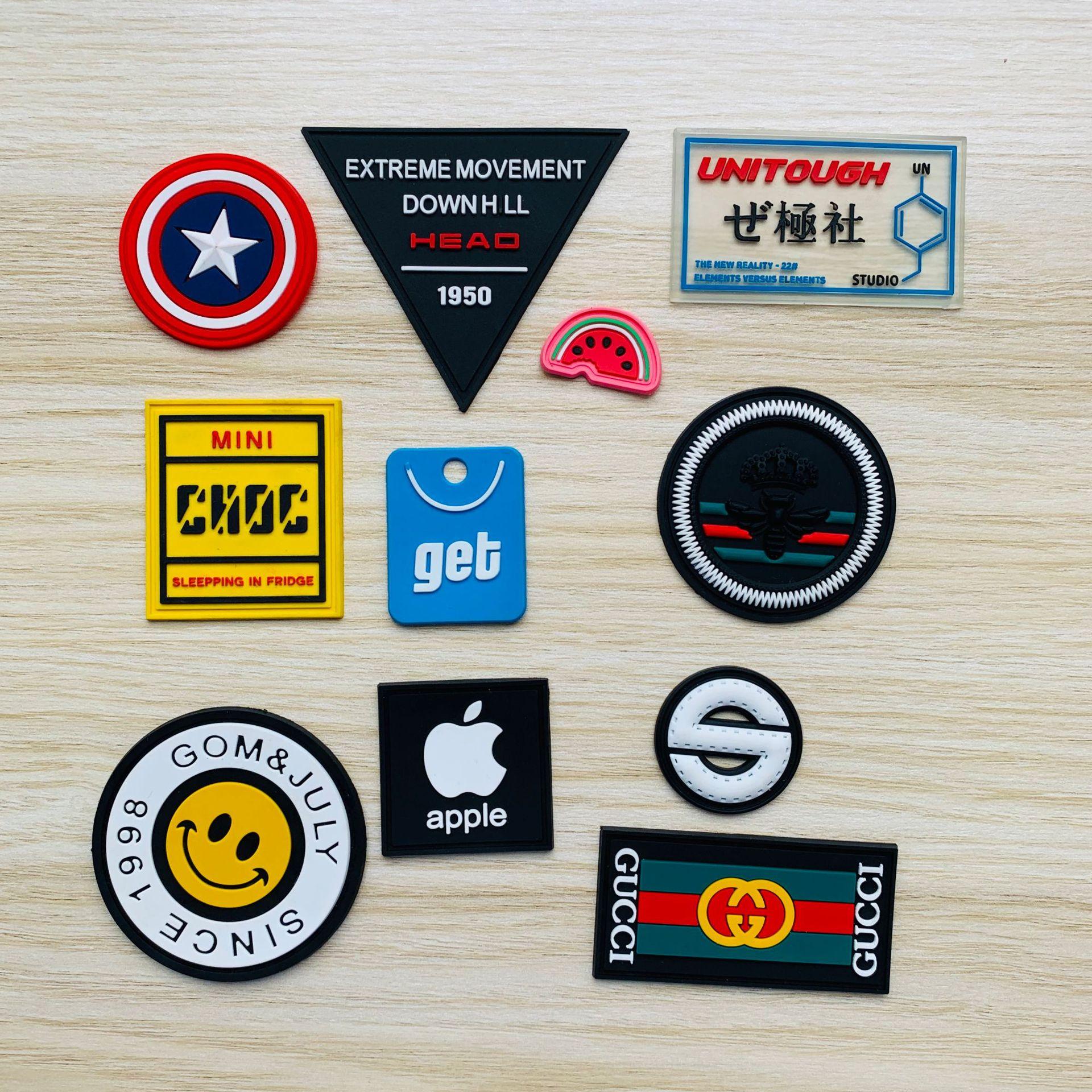 廠家定制pvc軟膠商標服裝膠章塑料標硅膠標橡膠來圖商標定制