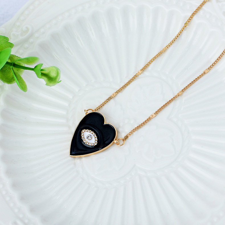 Fashion oil drop heart pendant necklace women fashion simple temperament jewelry NHQS194686