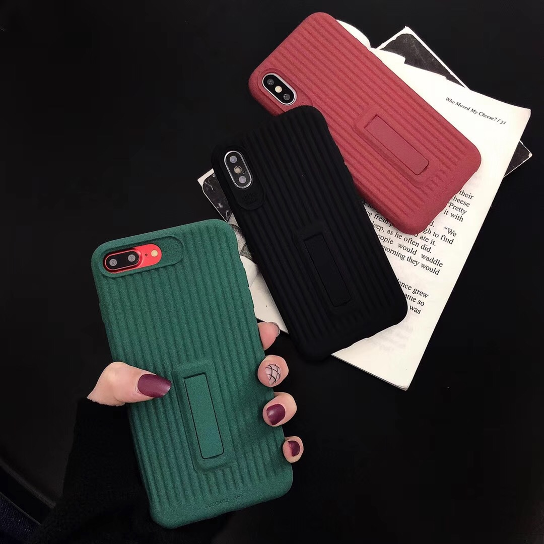 Net red with the same luggage for iPhoneX mobile phone shell creative bracket new suitcase Apple 8 protective sleeve