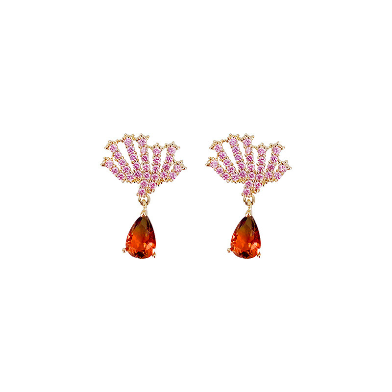 Womens Animals / Zodiac Zircon Copper Tong Earrings YT190411116790