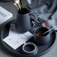 哑光陶瓷杯日式带碟便捷个性下午茶韩版套具套装优雅墨绿咖啡杯