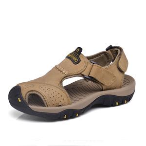 ស្បែកជើងបុរស Men Casual Sandals leather Outdoor Beach Shoes PZ732665