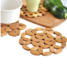竹制隔热垫餐桌垫竹垫子碗垫桌垫锅垫防烫垫盘垫茶杯垫防烫垫优惠