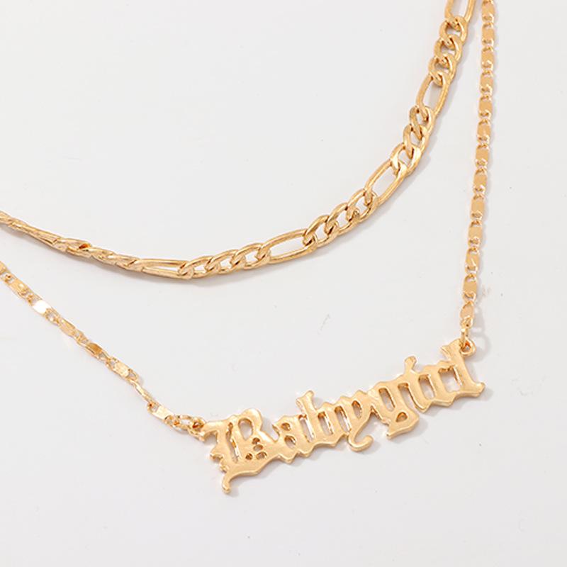 Fashion English alphabet babygirl alloy necklace NHNZ170119