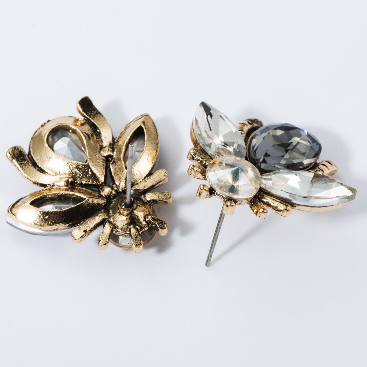 Alloy studded bee stud earrings NHJE157791