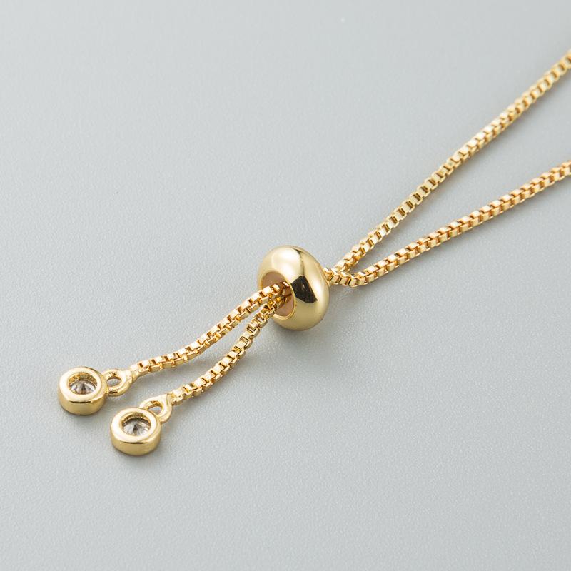 Pulsera de zircon con incrustaciones de piña de Xiaoqing ajustable de cobre completo NHLN187260