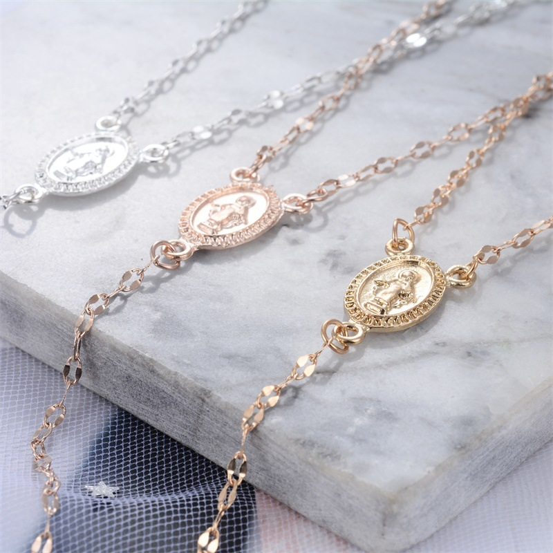 New Fashion Cross Necklace Women39s Clavicle Chain Jesus Easter Jewelry Sexy Tassel Pendant NHMO207898