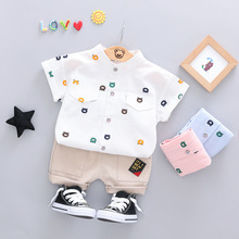 童裝夏款兒童3歲寶寶韓版小孩上衣潮短褲褲采源寶代理加盟