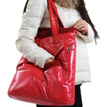 女士新款pu尼龍拉鏈方包糖果色大容量純色休閑pu+滌綸單肩手提包