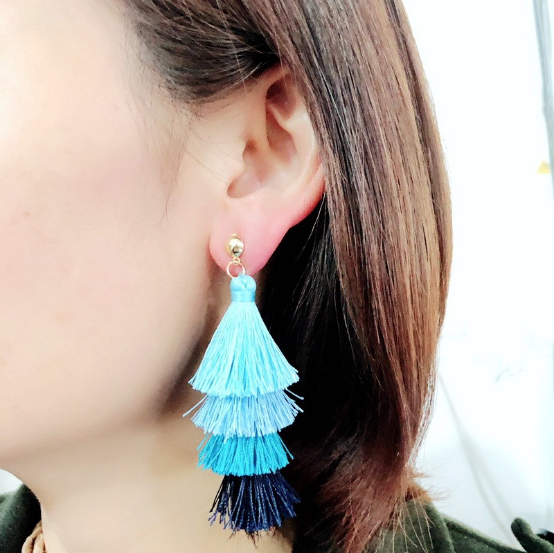 Alloy Fashion Tassel earring  (red)  Fashion Jewelry NHOM1405-red
