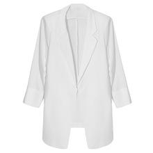 2019夏薄款白色休闲西服雪纺小西装上衣外套薄款夏装防晒衫女气质