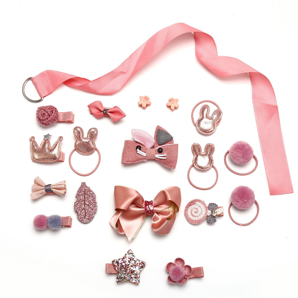 Hair Clip Set Rabbit Gift Box Childrens Headdress Set of 18 NHPJ188045