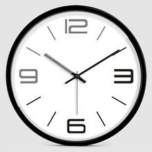 静音时尚简约数字挂钟创意客厅石英时钟数字卧室现代简单钟表