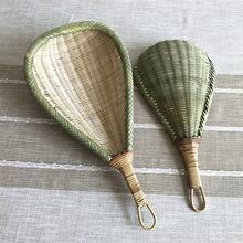 竹制品竹编勺子 厨房家用竹漏勺 长柄手工勺 过滤捞面勺 沥水筲箕