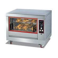 268卧式旋转烤鸡炉 电热式不锈钢烤鸭炉烤炉鸡腿鸡翅红薯烘烤设备