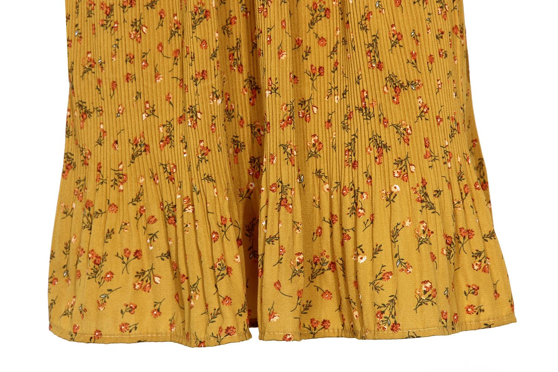 flared cuff pleated chiffon dress NSMY24583
