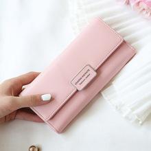 廠家定制批發加工新款女士錢包 錢包搭扣多卡位長款手機包