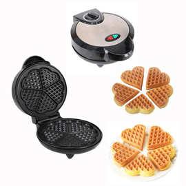 不锈钢三角华夫饼机 加热自制华夫机 梅花形松饼机 家用蛋糕机
