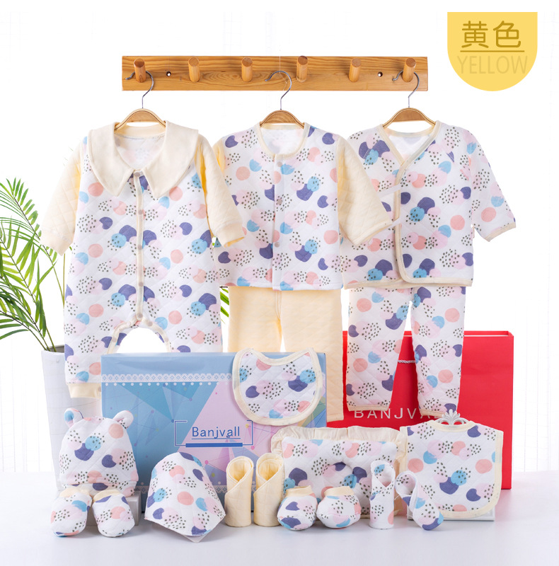 Newborn gift box newborn autumn and winter cotton baby clothes set supplies baby high-end gift NHQE180534