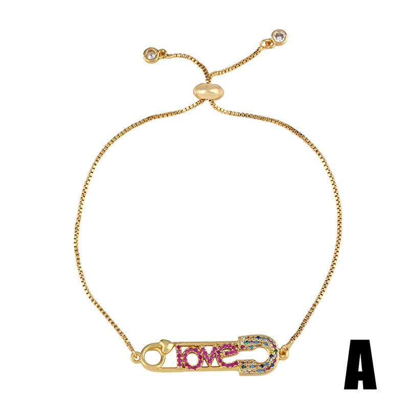 Rotten color zircon bracelet love cherry bracelet love bracelet NHAS177638