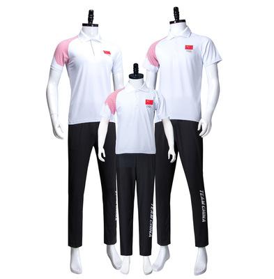 夏季短袖运动服国家队领奖训练服男女学生运动会出场运动套装校服