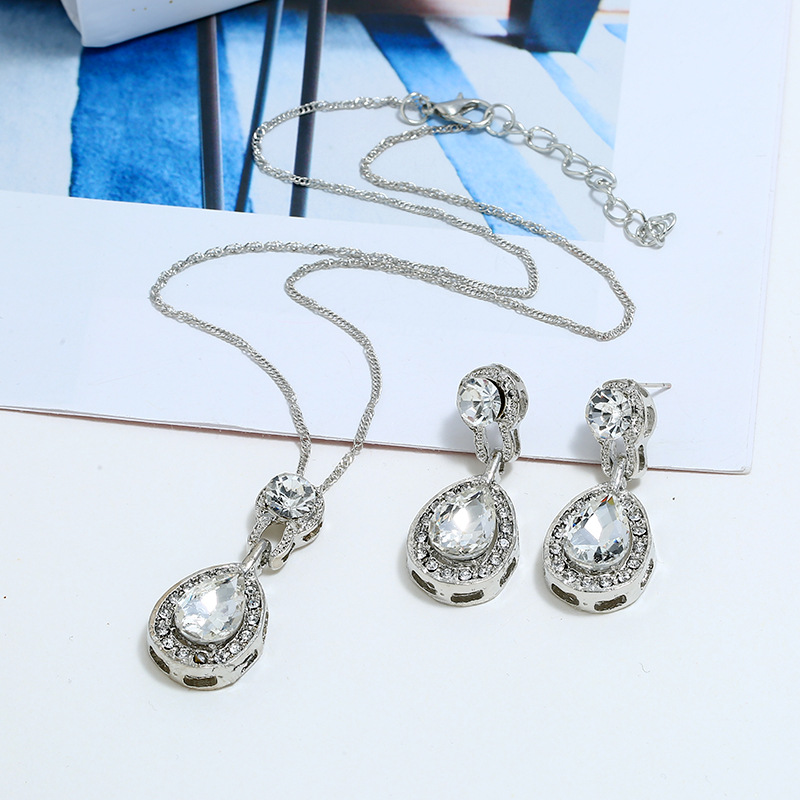 Womens Inlaid Imitated crystal Alloy Jewelry Sets NHBQ127831