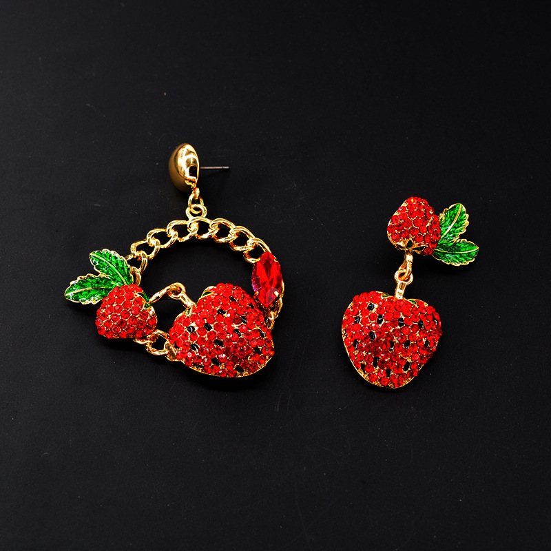 Womens Drop Shaped Rhinestone Alloy Earrings NHNT134309
