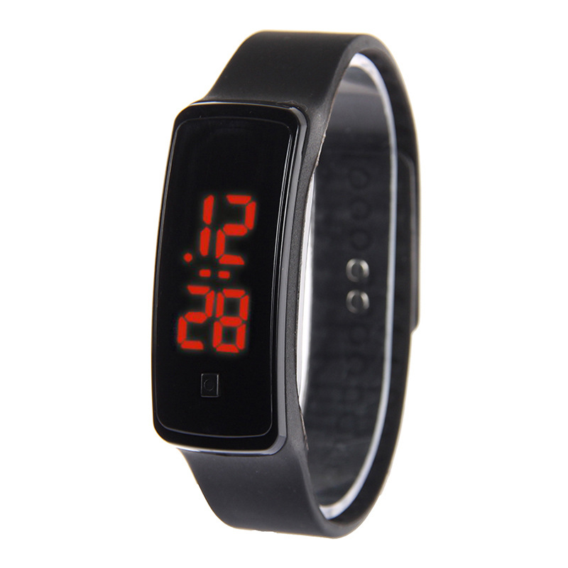 Hot LED touch screen bracelet watch luminous fashion silicone sports bracelet men and women students watch wholesale NHSS211910