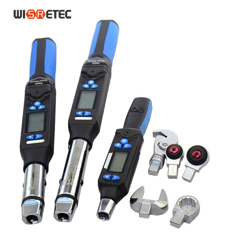 可调电子数显扭力扳手 开口扭矩 活口头 力矩1.5-340NM换头扳手