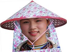 少年儿童舞台表演用具灯饰竹编斗笠帽子手工艺品采茶帽竹叶红军帽