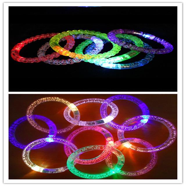 儿童玩具LED发光手环演唱会表演助威道具气泡闪光玩具