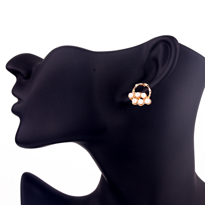 Fashion charm beads flower personality earrings NHGO136924