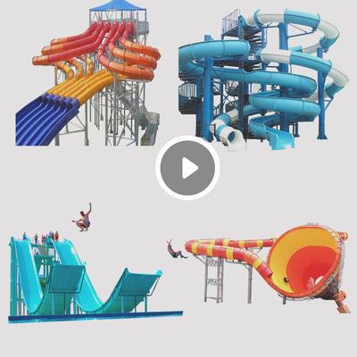 水上滑梯厂家直销 定制2019彩虹滑梯 大型户外水上设备 水上乐园