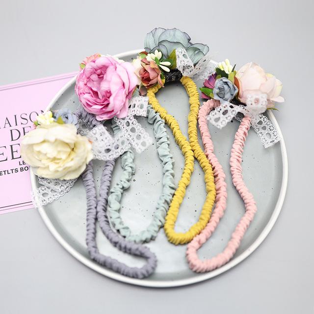 AngelNeitiri Hàn Quốc phụ kiện tóc cho bé bán buôn băng đô tóc bé bên bờ biển hoa 100 ngày trăng tròn Băng tóc