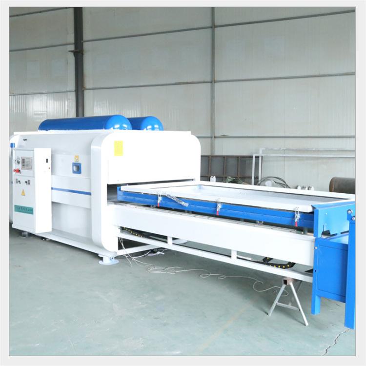 全自动木工机械覆膜机 双工位大小仓吸朔机 pvc膜门板真空覆膜机