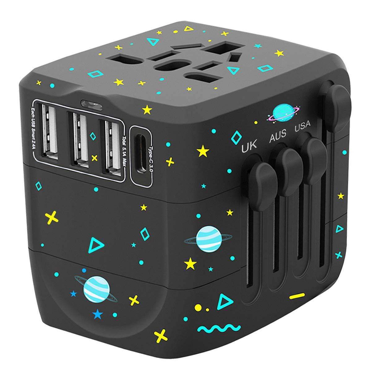 直销四USB转换插座 全球通多功能礼品赠品旅行用品万能转换插座