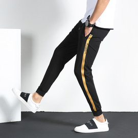 Casual pants men's spring new small-legged trousers leggings nine-point pants youth loose sports pants men's wear