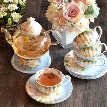 4人过滤花草茶具花欧式套装整套透明玻璃泡欧式加热花果茶花茶杯