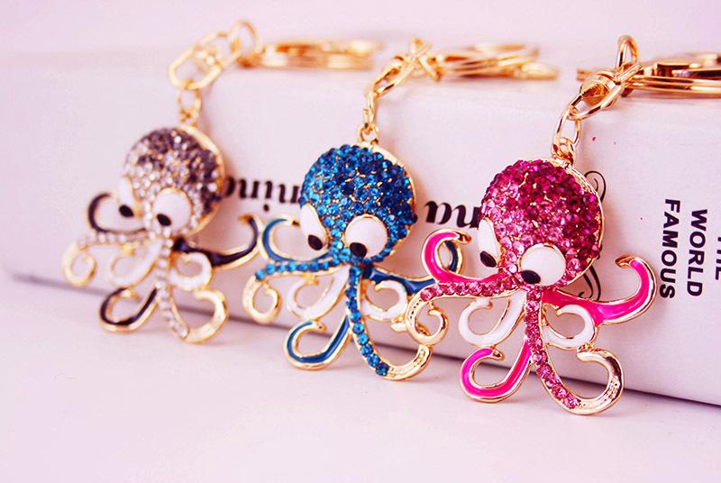 cute diamond small turtle key chain NHAK247542
