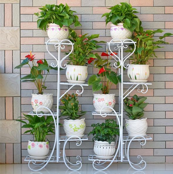 花架子大型五层院子兰花户外装饰架落地式客厅铁艺室外花架吊兰