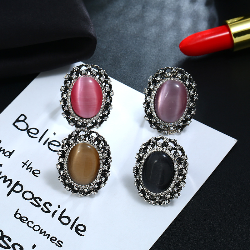 Accessories creative fashion retro exaggerated ring jewelry women NHKQ175960