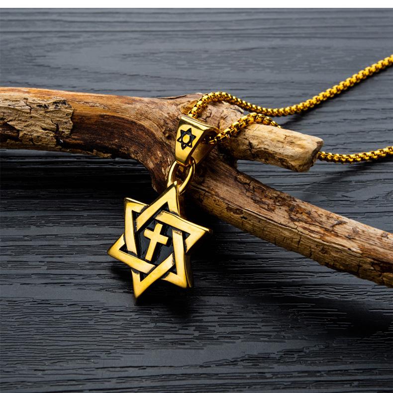 fashion simple cross necklace NHOP313386