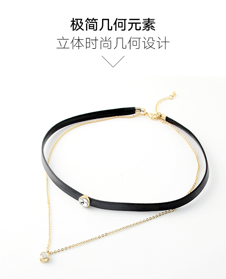 Womens geometric plating alloy Choker NHLL145011