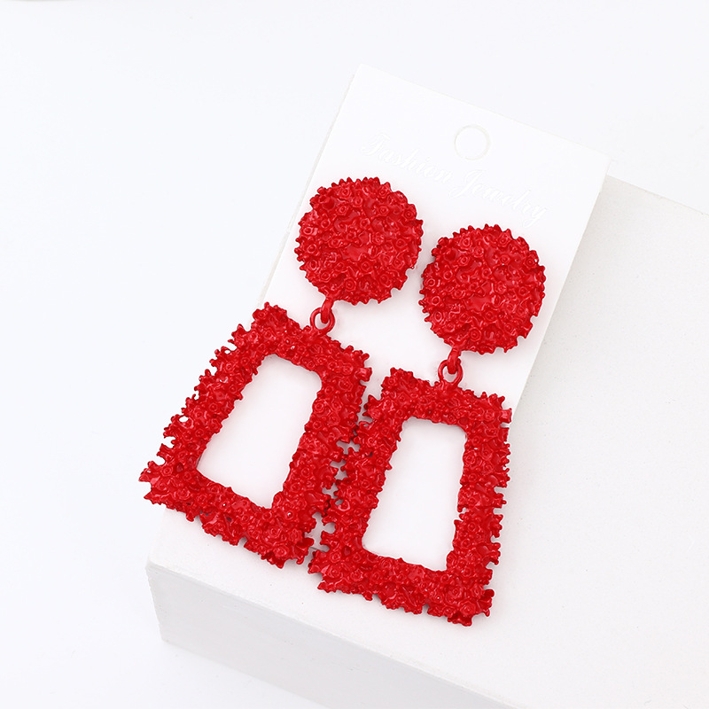 Alloy Fashion Geometric earring  (red)  Fashion Jewelry NHNZ1375-red