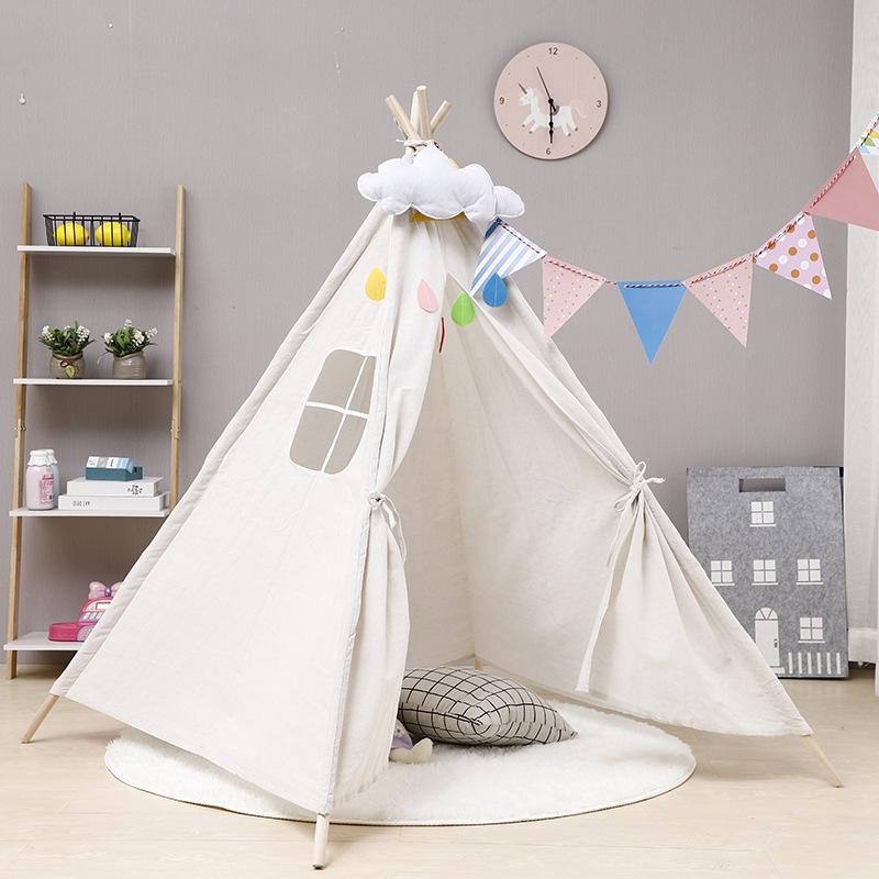印第安儿童帐篷男女孩室内游戏屋小房子公主城堡户外野餐郊游帐篷
