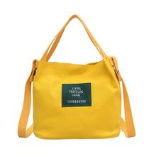 跨境定制新款女包韓版帆布包迷你糖果色手提單肩包直銷帆布水桶包