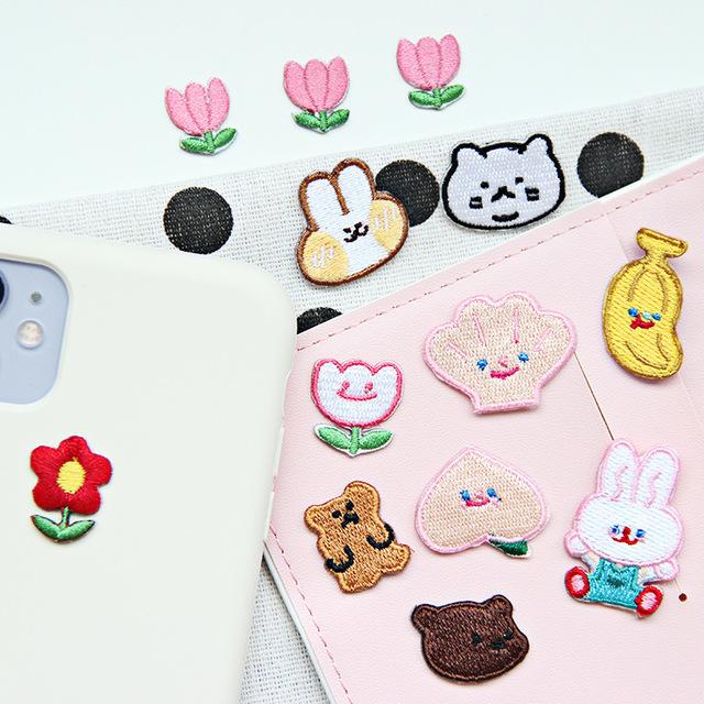 韩版泫雅花朵小熊衣服装饰精致刺绣贴布贴手机帽子补丁贴手账装饰