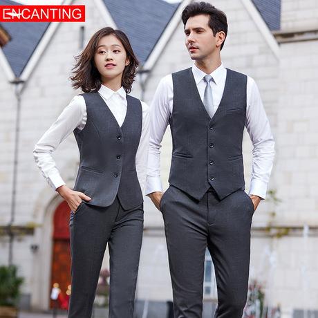 2019 mới chính thức ăn mặc chuyên nghiệp phù hợp với quản lý phỏng vấn phỏng vấn cao cấp thời trang vest phù hợp với tùy chỉnh
