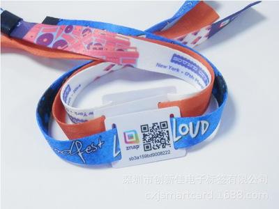 RFID编织腕带 感应织唛腕带,运动手环 深圳工厂生产RFID电子标签
