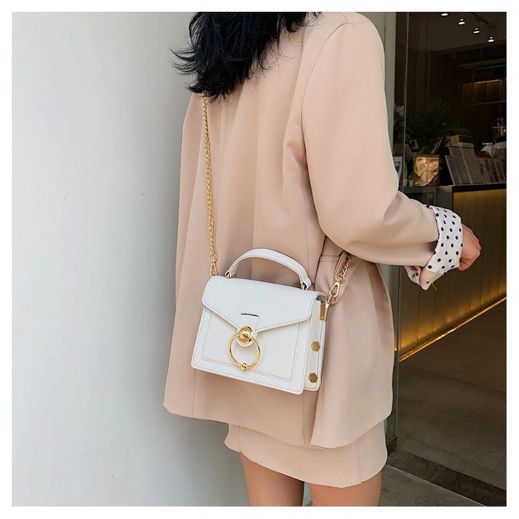 New handbag fashion contrast color shoulder bag Messenger small square bag NHPB170855